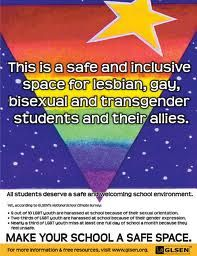 GLSEN Safe Space Kit is designed to help educators create a safe space for LGBT youth in schools, the NEW Safe Space Kit features the 42-page Guide to Being an Ally to LGBT Students.