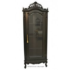 Helene French Corner Display Cabinet - Black