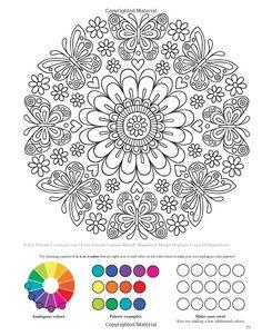 Mandala Avec Une Grosse Fleur Colorier