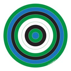 Blue, Green & Black Printable Target