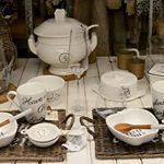 Have a lovely breakfast with dishes of Riviera Maison! Sugar Bowl, Bowl Set, Dishes, Breakfast, Morning Coffee, Tablewares, Dish, Signs, Dinnerware