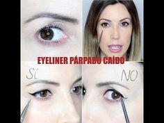 EYELINER PARA PARPADOS CAIDOS O ENCAPOTADOS : EYELINER FOR HOODED EYES - YouTube
