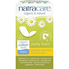 Natracare Organic Cotton Panty Liners Mini ~(30 liners)