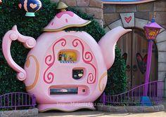 Teapot Vending Machine at Tokyo Disneyland, Japan.