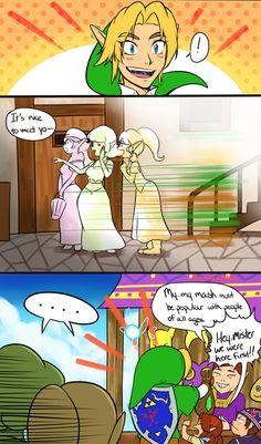 Handsome Link, The Legend of Zelda series artwork by Kitsune 23 Star.