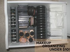 Makeup Storage Update: Organizing with Drawer Liners from Ikea #tutorial #diy #makeup #ikea