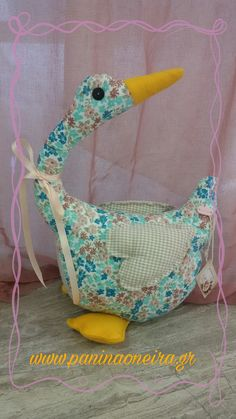 Handmade goose made of cotton floral fabric!
