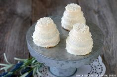 These Mini No Bake Wedding Cakes could not be easier! The tiny tiered sweets are perfect for a bridal shower, rehearsal dinner or even wedding favors!
