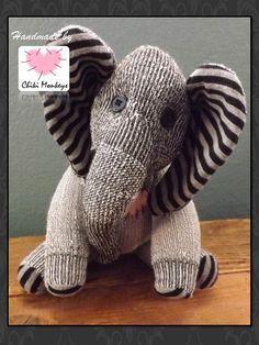 Handmade sock elephant: MIkey  The original 100% by ChikiMonkeys