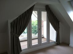 curtains to large apex windo - Google Search