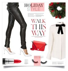 """""""Walk This Way"""" by marina-volaric ❤ liked on Polyvore featuring mode, Alexander McQueen, Balmain, Anja, MAC Cosmetics, Alexander Wang et holidaystyle"""