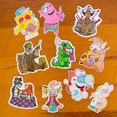 10 Pack of Stickers  Dab Sticker Pack  Dab Slaps with by PoloLoko 710