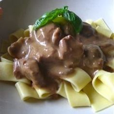 Slow Cooker Beef Stroganoff I — Simmer dinner in a slow cooker while you're out for the day.