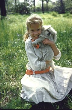 Look who's turning 68 today! It's British actress Hayley Mills! - this is a photo of her in Pollyanna (1960) - She was born 4-18 in 1946.