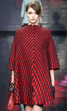 Chic coat dress Giorgio Armani Privé Fall Winter 2014 #Couture Paris Fashion #Fall2014 #HauteCouture