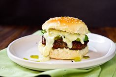 Stuffed Hatch Chile Cheeseburgers by foodiebride, via Flickr