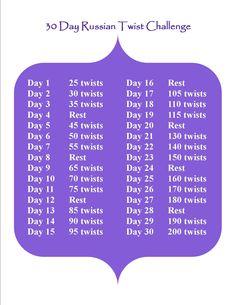 30 day Russian Twist challenge