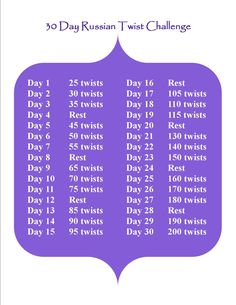 30 day Russian Twist challenge