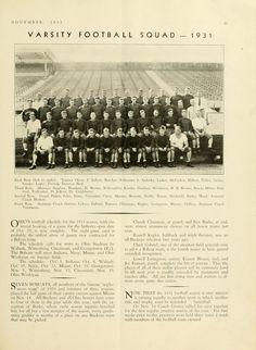 "The Ohio Alumnus, November 1931. ""Varsity Football Squad --- 1931."" Ohio University's football team. :: Ohio University Archives"