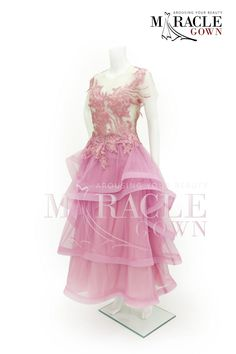 Miracle Gown - Blushing pink brocade layered dress www.facebook.com/Miracle.Gown or www.gauncantik.com for further information  #Gaun Pesta #Gaun Malam #Evening Dress #Evening Gown #Splendid Evening Dress Design #Fashion Designer #Miracle Gown #Evening Dress Designer