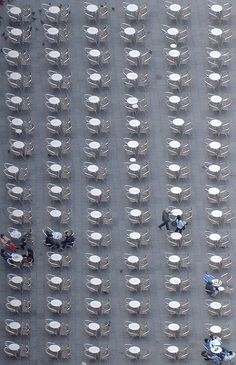 Tables outside Cafe Florian, Venice, Italy...