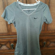 Nike Pro Dri-fit short sleeve v neck Worn once, great condition. Will fit xs-s. Nike Tops Tees - Short Sleeve