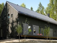 barn house in Finland. Designed by Ulla Koskinen for a company called Kannustalo.