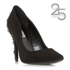 DUNE LADIES BIRTHDAY - 25 Years Hand Crafted Jewel Embellished Court - black | Dune Shoes Online