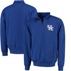 #Fanatics.com - #Stadium Athletic Kentucky Wildcats Logo Quarter-Zip Sweatshirt - Royal - AdoreWe.com