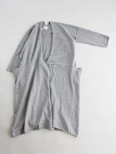 by evam eva - recycled cotton 2way cardigan
