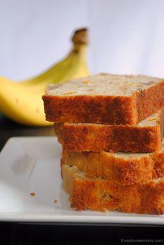 Tropical Mango Banana Bourbon Bread - a taste of Hawaii in a slice of bread!