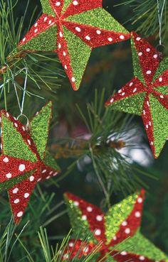 Árbol de Navidad estrellado.