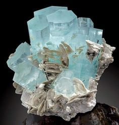 ‪#‎Wowseries‬ Aquamarine with Muscovite Albite from Pakistan. Pak is geologically rich in such wonderful gemstones !