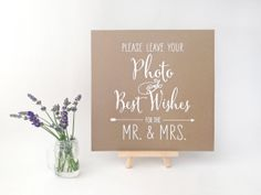 Wedding Photobooth Guestbook Sign, Photo Guestbook Sign, Polaroid Guestbook Sign, Ink-drawn Rustic Kraft or Chalkboard Style on Etsy, $18.00