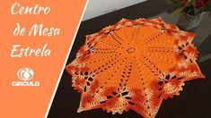 cєทτrσ ∂є мєsα єsτrєℓα ☆  #edilenefitipaldi - YouTube Crochet World, Crochet Top, Crochet Mandala, Doilies, Coasters, Lace, Youtube, Crafts, Crochet Carpet