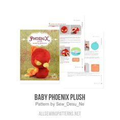 Baby Phoenix Plush sewing pattern by Sew Desu Ne