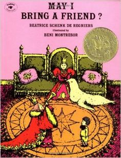 """Winner of the Caldecott Medal  One day, a small boy receives a very special invitation -- the King and the Queen have invited him to the castle for tea. He accepts, with one question: """"May I bring a friend?""""  """"Any friend of our friend is welcome her,"""" says the King. But their guest's friend turns out to be someone they never expected!  Beatrice Schenk de Regniers's rhythmic text and the fantastical, jewellike artwork of Beni Montresor have made this book a favorite for more than twenty-five…"""