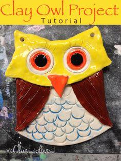 Clay Owl Tutorial elementary school project