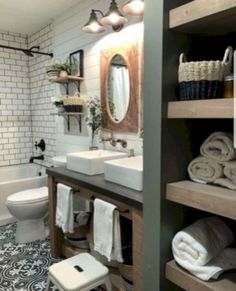 If you have a small bathroom in your home, don't be confuse to change to make it look larger. Not only small bathroom, but also the largest bathrooms have their problems and design flaws. Bathroom Inspiration, Bathroom Vanity, Bathroom Makeover, Modern Bathroom, Home Remodeling, Bathroom Decor, Bathroom Design, Bathroom Renovations, Small Bathroom Remodel
