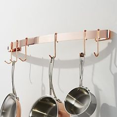 Enclume ® Copper-Plated Curved Wall Rack