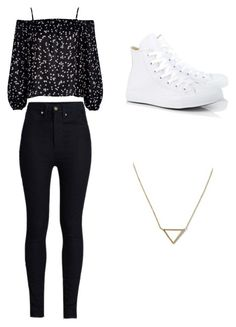 """Untitled #102"" by kailastrawberry ❤ liked on Polyvore featuring beauty, Banana Republic, River Island, Rodarte and Converse"