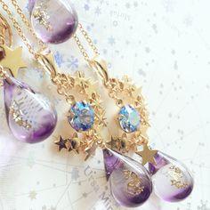 埋め込み Uv Resin, Resin Molds, Resin Art, Glass Jewelry, Resin Jewelry, Stone Jewelry, Gem Diamonds, Magical Jewelry, Resin Charms