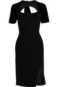 Altuzarra Angelina velvet-trimmed crepe dress   THE OUTNET