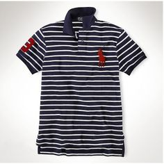 Ralph Lauren Classic Custom-navy stripe Red Big Pony ,the greateat  discount, 77% off.
