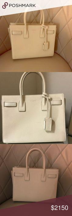 f768b3904e Saint Laurent Baby sac de jour White Saint Laurent bag bought in 2017 worn  no more