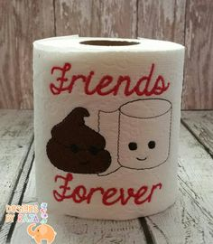 Friends Forever embroidered toilet paper, birthday gift, best friend gift, funny gag gift, white elephant, bathroom decoration, joke gift by DesignsByRAJA on Etsy