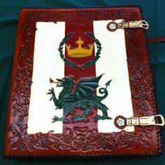 Custom 3-Ring Binder made for the Middle Kingdom of the SCA (front)
