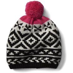 Gap Women Crazy Fair Isle Merino Wool Blend Beanie (267.025 IDR) ❤ liked on d4edd31954e9