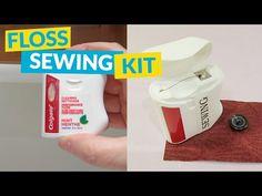 Dental Floss Sewing Kit Hack | Hometalk