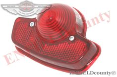 REAR TAILLIGHT BRAKE LAMP RED LENS LUCAS TYPE UNIVERSAL FIT TRIUMPH BSA NORTON